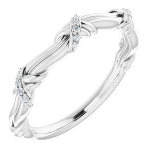 Platinum .06 CTW Diamond Anniversary Band