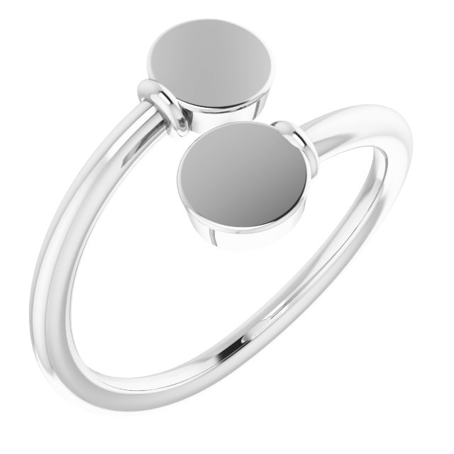 Sterling Silver Engravable Bypass Ring