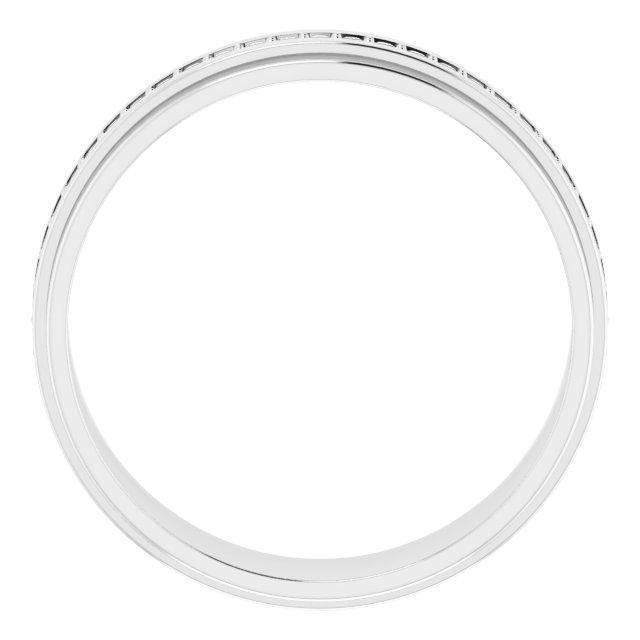 14K White 3/8 CTW Diamond Eternity Band Size 11.5
