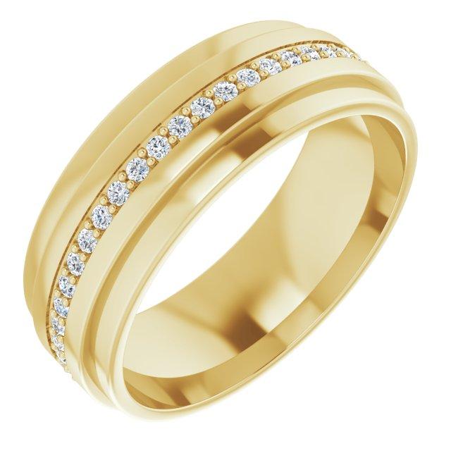 14K Yellow 1/3 CTW Diamond Eternity Band Size 8