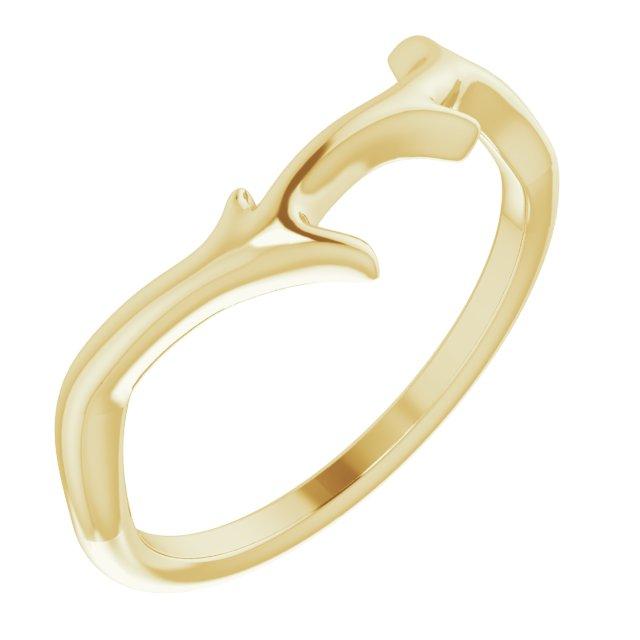 14K Yellow Branch Ring