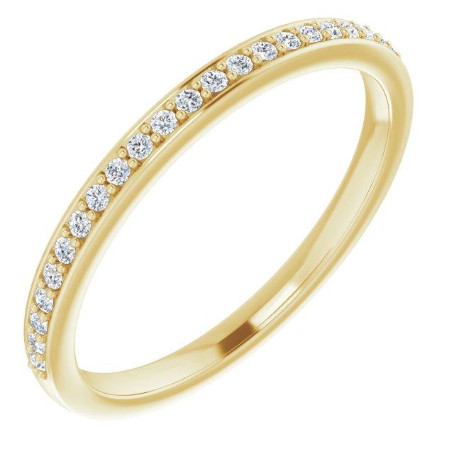 14K Yellow  1/8 CTW Natural Diamond Matching Band