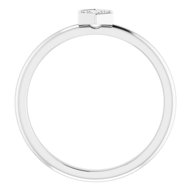 14K White 2.5 mm Round Forever One™ Moissanite Ring