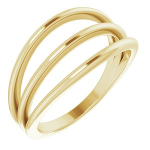 14K Yellow Negative Space Ring