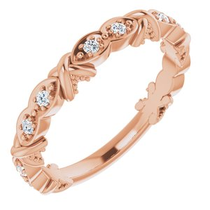 14K Rose 1/8 CTW Diamond Anniversary Band