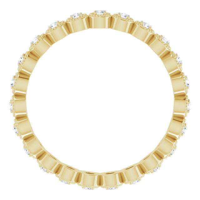 14K Yellow 1/4 CTW Diamond Eternity Band Size 7