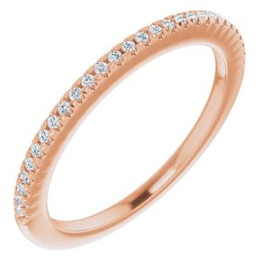 14K Rose 1/8 CTW Diamond French-Set Anniversary Band