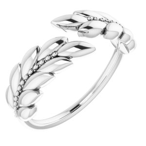 Sterling Silver Leaf Negative Space Ring