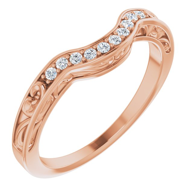 14K Rose .08 CTW Diamond Vintage-Inspired Band