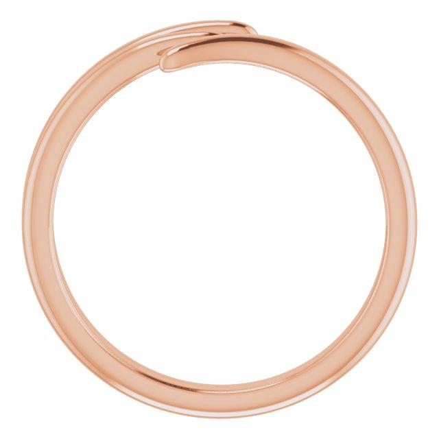 14K Rose Bypass Ring