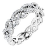 Infinity-Inspired Twisted Eternity Band