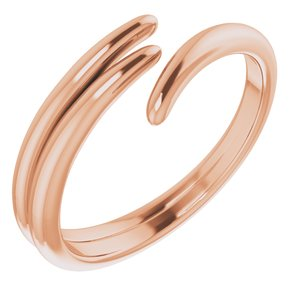 14K Rose Bypass Ring