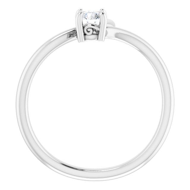 14K White 1/4 CTW Diamond Bypass Ring
