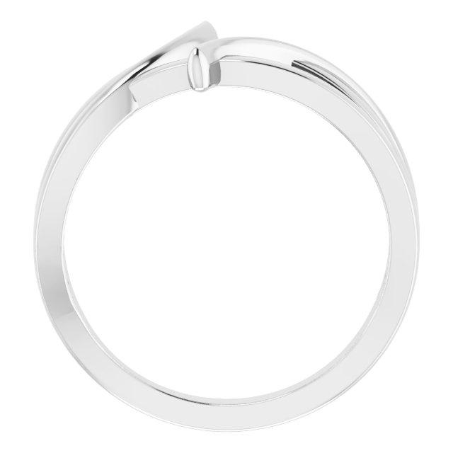 14K White 12.4 mm Freeform Bypass Ring