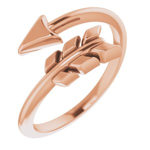 14K Rose Arrow Ring