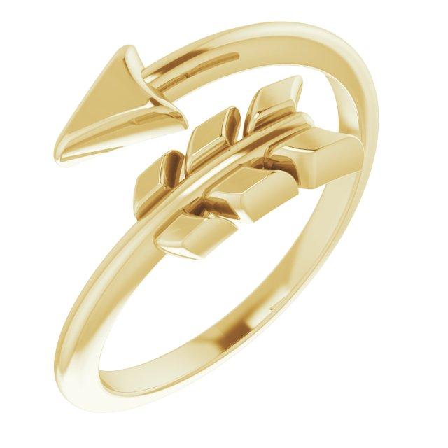 14K Yellow Arrow Ring