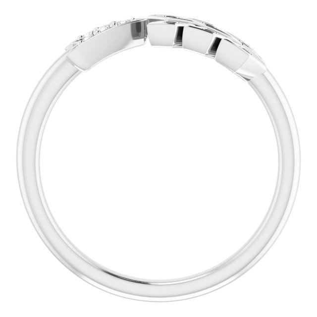 14K White .04 CTW Diamond Arrow Ring