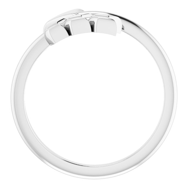 14K White Arrow Ring
