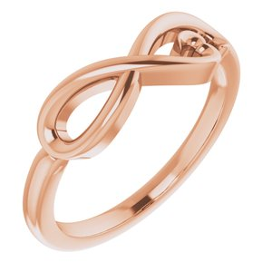 14K Rose Infinity-Inspired Heart Ring