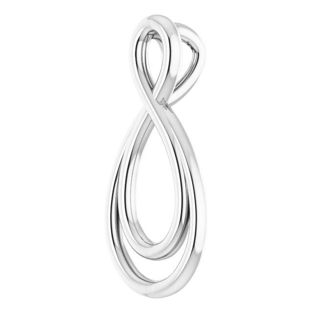 14K White 15.3x7.3 mm Infinity-Inspired Pendant