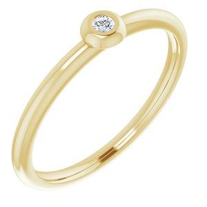 14K Yellow .03 CTW Diamond Stackable Ring