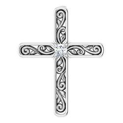 Solitaire Cross Pendant
