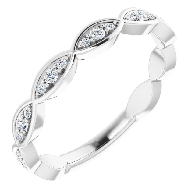 14K White 1/5 CTW Diamond Infinity-Inspired Anniversary Band
