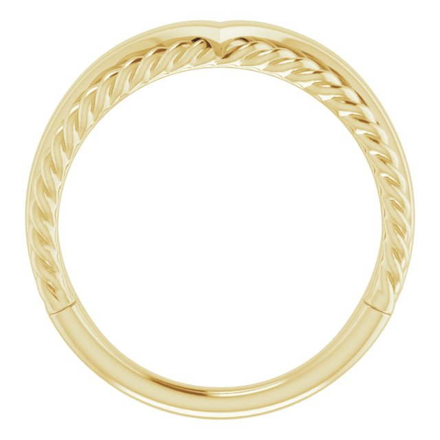 14K Yellow Negative Space Rope Ring