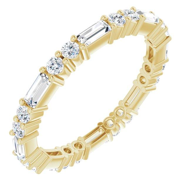 14K Yellow 5/8 CTW Diamond Eternity Band Size 4