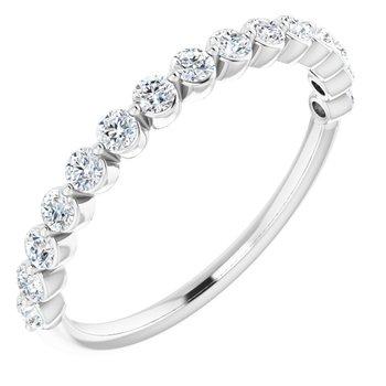 14K White .5 CTW Diamond Anniversary Band Ref 13470544