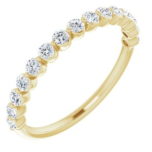 14K Yellow 1/2 CTW Diamond Anniversary Band