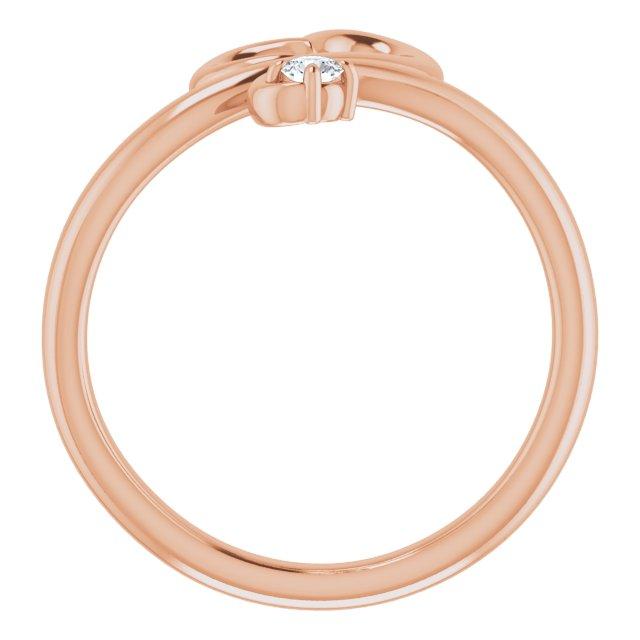 14K Rose .06 CTW Diamond Heart Ring