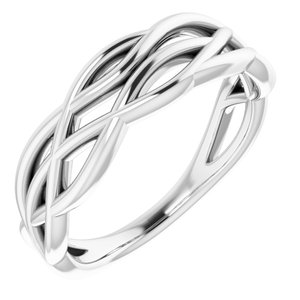 Platinum Freeform Ring