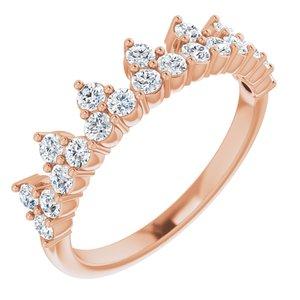14K Rose 5/8 CTW Lab-Grown Diamond Stackable Ring