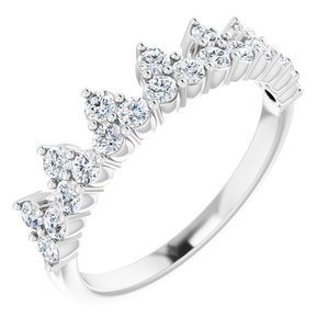 14K White 5/8 CTW Lab-Grown Diamond Stackable Ring