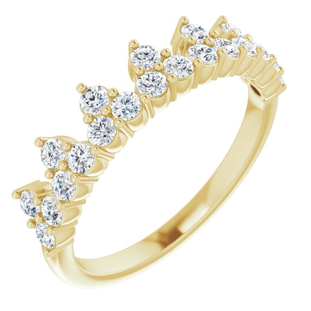14K Yellow 5/8 CTW Lab-Grown Diamond Stackable Ring
