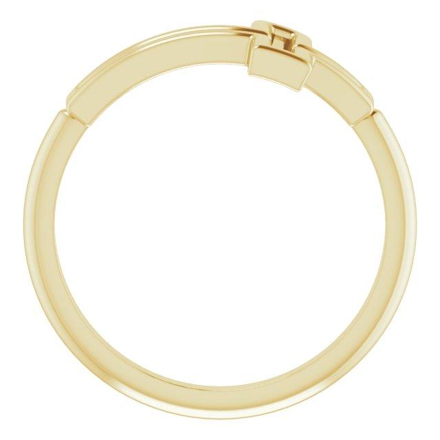 14K Yellow Cross Ring