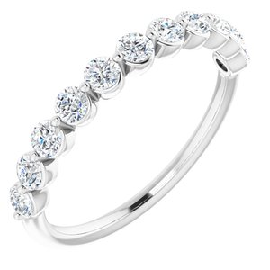 Platinum 5/8 CTW Diamond Anniversary Band