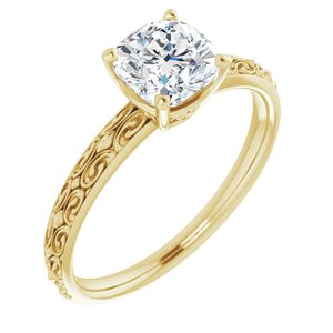 Solitaire Engraved - $666