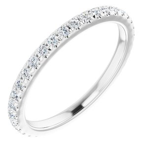 14K White 3/8 CTW Diamond French-Set Anniversary Band