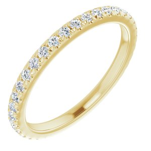 14K Yellow 3/8 CTW Diamond French-Set Anniversary Band