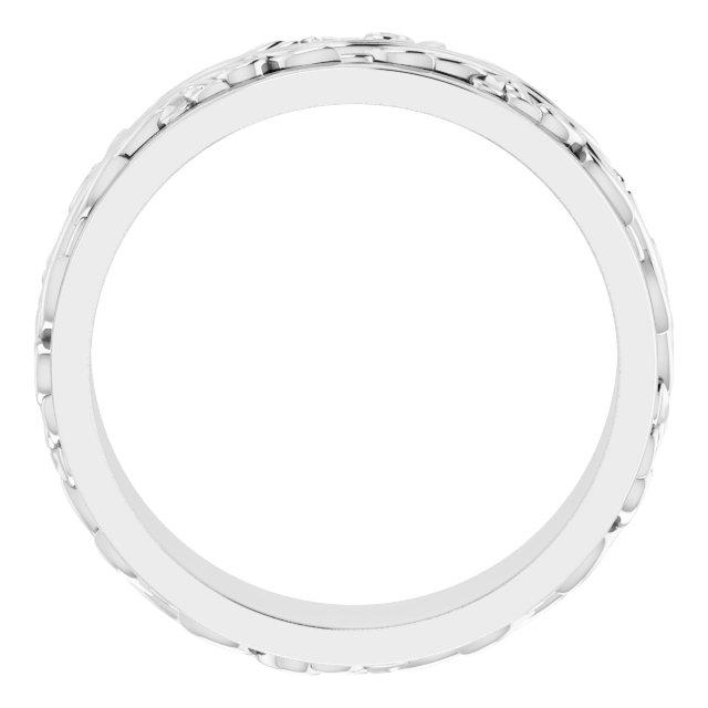 Platinum 7 mm Sculptural-Inspired Band Size 11.5