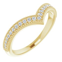 """Accented Stackable """"V"""" Ring"""