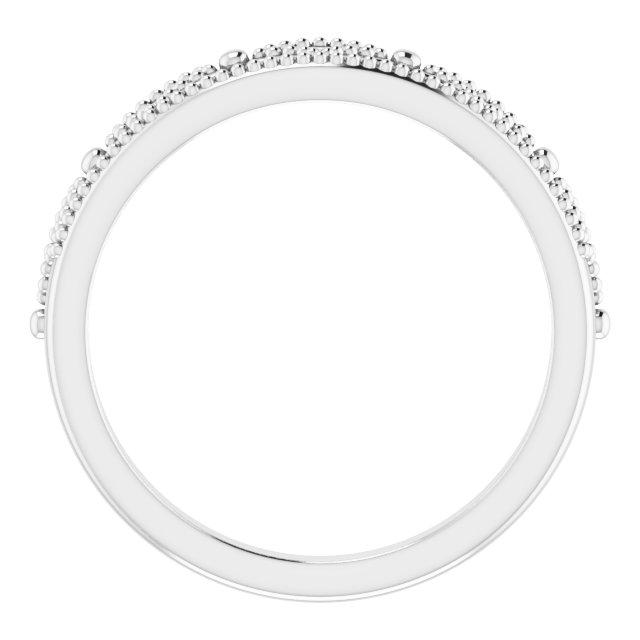 14K White .04 CTW Diamond Crown Ring