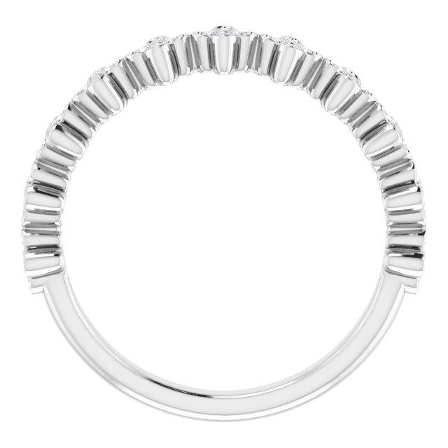 14K White 1/6 CTW Diamond Stackable Clover Ring