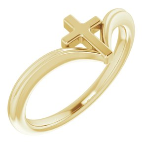 14K Yellow Cross Ring