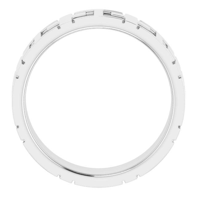 14K White 7 mm Cross Band Size 9