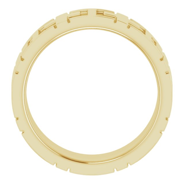 14K Yellow 7 mm Cross Band Size 5.5