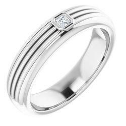 Men's Solitaire Bezel Set Ring