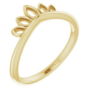 14K Yellow Marquise-Shaped Crown Ring